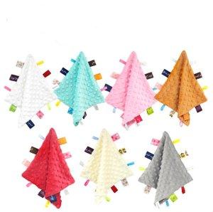 Teething Blanket Appease Towel Toy Hanging Peas Sounding Towel Super Soft Baby Teething Cloths Baby Teething Toys Security Blanket OWA829