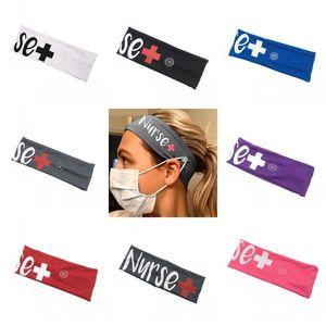 Krankenschwester Haar-Riegel-Bandeau mit Maske Schnallen Fashion Stirnband Scrunchies elastische Haarbänder Haare Zubehör Headwears Fit Supplies 4 77jy C2