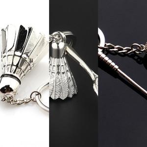 Креативный 3D металла спорта Creative 3D ключ бадминтона брелок для бадминтона металла брелок спорта брелок dtUKW