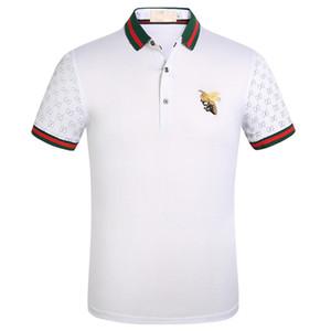 2020 إيطاليا مصمم رجالي بولو قميص رجل شارع العليا التطريز الرباط الأفاعي النحلة الصغير الطباعة العلامات التجارية أعلى جودة Cottom الملابس تيز