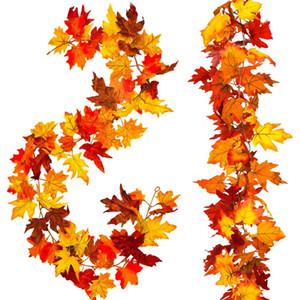 2 pezzi artificiale autunno Garland, caduta Hanging Impianto per la casa Garden Wall Porta fondale Camino Decorazione, mer