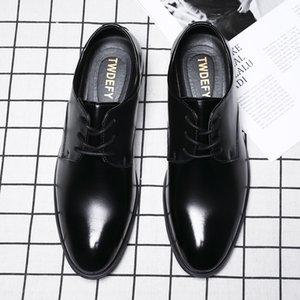 Mode Retro Oxfords Schuhe Herren 2020 Leder Elegante Schuhe Männer Komfortable Lace Up Kleid Elegante Schuhe in Übergrößen HV-013