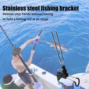 Açık Paslanmaz Çelik Bracket Paslanmaz Çift Kullanımlı Balıkçılık Çubuk Tutucu Ayarlanabilir