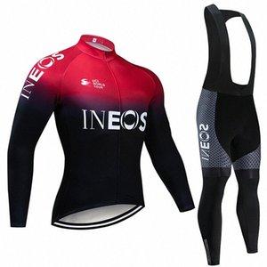 2019 велосипедной команды Джерси 20D велосипед брюки набор Ropa Ciclismo MENS Winter термический флис про трикотаж Bicycling Майо износ QDcC #