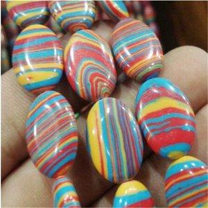 "13x18mm rouge multicolore turquie Turquoise ovale perles en vrac 15"""