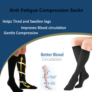 1 Pair Compression Leg Relief Pain Knee Socks Pressure Compression Stockings Unisex Solid Color Thigh High Socks Nylon Long Sock