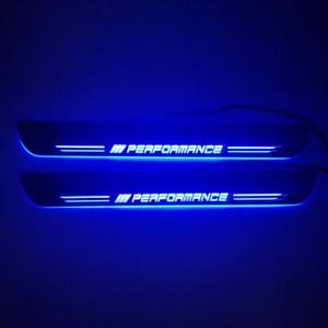 A prueba de agua en movimiento LED Recepción del pedal del coche placa del desgaste del travesaño de la puerta del pedal Camino de luz para BMW X5 E53 E70 F15 F16 G05 X6 E71 E72