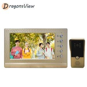 Dragonsview porte vidéo Interphone Entrée Kit filaire Vidéo Sonnette Phone Call Panel Caméra pour Home Villa Immeuble