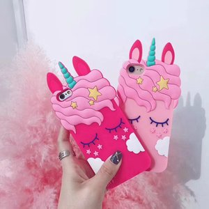 3D Cartoon Eyelash Pink Uicorn Horse Phone Case for IPhone X XR XS Max 7 8 plus Back Cover Silicone Rubber Case For iphone 11 Pro MAX