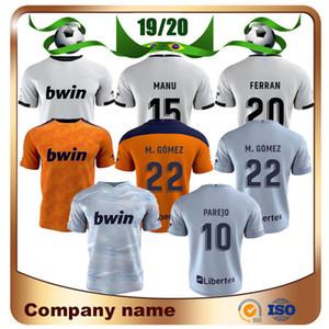 20/21 jersey de fútbol 2020 camiseta de la primera GAMEIRO PAREJO GAYA fútbol uniformes M.GOMEZ GUEDES FERRAN C.SOLER Fútbol Valencia
