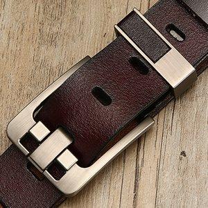 Free Shipping Men Belt Male High Quality Leather Belt Men Genuine Leather Strap Luxury Pin Buckle Fancy Vintage Jeans