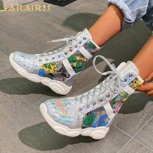 Sarairis 2020 neue Entwurfs-Komfortabler Add Pelz-warme Winterstiefel Frauen-Schuhe Bunte IN Hot-Ankle-Boot Female