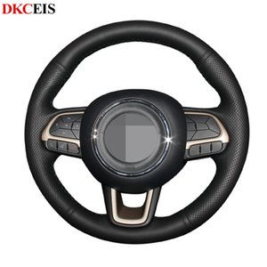 Hand-stitched Black PU Artificial Leather Car Steering Wheel Covers Wrap for 2020 2020