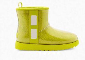 Nuevo otoño e invierno diseñador superior botas de moda Marca Botón de pelo de conejo cálidas botas de cuero de alta calidad de tacón alto de las mujeres botas de calzado 6332