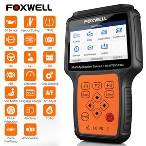 Foxwell NT650 Elite OBD2 el explorador automotor ABS SRS DPF engrasa reajuste lector de código profesional del OBD del coche herramienta de diagnóstico OBD2