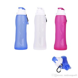 3colors 500ml Eco-Friendly outdoor camping hiking Silicone Travel Sport Flexible Collapsible Water Bottles Foldable Drinkware Water Bottle