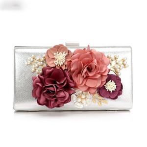 Borse Designer-festa nuziale di sera delle donne di modo del fiore piccole frizioni di giorno con la catena della spalla Lady Shell in rilievo della borsa Borse
