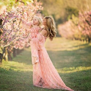 Women Pregnants Sexy Photography Props Off Shoulders Lace Nursing Long Dress maternity dresses Stylish August 13