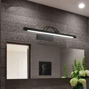 Led Espelho Modern Light 8W 12W AC90-260V fixado na parede Lâmpadas de parede industrial Bathroom Light aço inoxidável impermeável LED luminárias