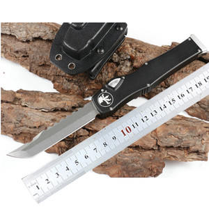 Microtech Automatische Messer 150-10 HALO V 6 ELMAX Blade-Aluminium-Legierung Griff Out Front The Automatic Tactical Messer