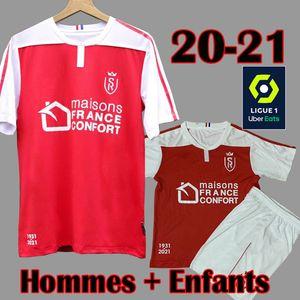 20 21 Maillots Reims Maillots de foot Stade Reims Kits enfants adultes DISASI CAFARO KONAN DIA FOKET CHAVALERIN ZENELI 2020 2021 Reims Maillots de foot