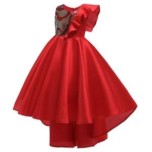 Цветочница принцессы Свадьбы Brilliant и Первого хвост платье девушка Official Первая Евхаристия партия и Наземный хвост платье