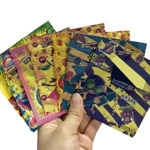 Der heiße Verkauf Esswaren Verpackungsbeutel leer wiederverschließbare Verpackung gummiartig 500mg Süßigkeit Mylar zipper Plastiksack Geruch Beweis Mylar Taschen