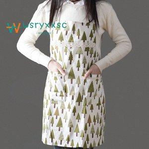 Küche Standard-Anti Fouling Oilproofed Baumwolle Schürze Niedliche Cartoon Erwachsener Ärmel Bid Großhandel Küchenreinigung Kochen Werkzeuge SLzJ #