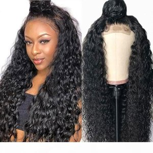 JYZ Kinky Curly Wig Lace Front Human Hair Wig With Baby Hair Peruvian Malaysian Curly Full Lace Human Hair Wigs For Black Women