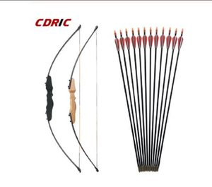 30 40LBS Straight Bow Split 51 Inches Entry Bow With Arrows Set For Children Youth Archery Hunting Shooting Kids Bow
