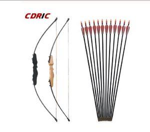 30/40 libras retas Bow Dividir 51 polegadas Bow Entry Com Setas Set For Children Juventude Archery Hunting Tiro Bow Crianças