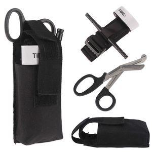 Erste-Hilfe-Kit Medizinische Tourniquet-Überleben-taktischer Kampf Militärkatze-Gürtel-Bandage-Scissor Erste-Hilfe-Schnalle für den Außenausfall