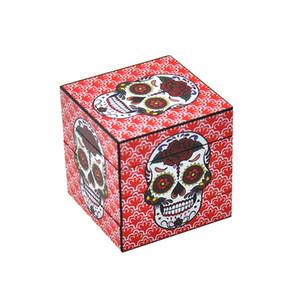 Distintiva Cubo Molinillos de hierba 4 capas 50MM aleación de aluminio Grinder cubo mágico de tabaco a base de plantas Grinder Dry Fit hierba Miller