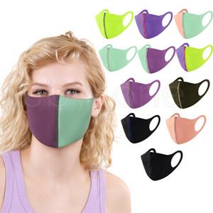 Fashion Face Mask Dustproof Antifog Mouth Masks Solid Color Patchwork Washable Reusable Designer Face Masks 11styles RRA3460