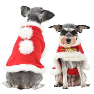 Commercio all'ingrosso Buon Natale regalo abito da compagnia invernale caldo natale cane vestito cane gatto abbigliamento divertente santa animali abbigliamento decorazioni natalizie
