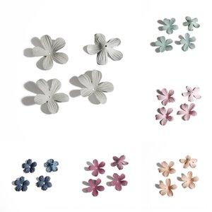 Yapay Çiçek yapay çiçeğin ler eardrop küpe eşini Diy çiçek küpe El yapımı diy üç boyutlu kumaş simülasyonu taç yaprağı tutucu