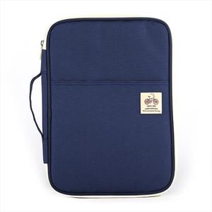 Multifuncional A4 documento Bags portátil impermeável Oxford pano saco para Notebooks Pens Computer Pasta Drop Shipping