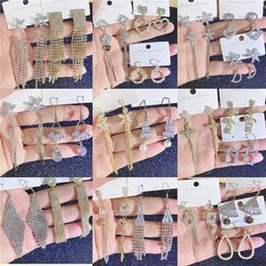 Tasarımcı küpe Püskül Uzun sarkan Bırak küpe Altın Gümüş Earrings Quilling Swarovski Kristal Bar Parti Düğün Takı Mix DHL