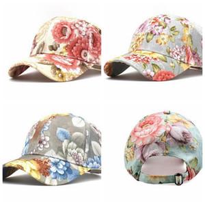 Womens coton et lin casquette de baseball casquettes de Ponycaps Casquette Chapeau de papa Taille réglable 3 couleurs LJJK2458