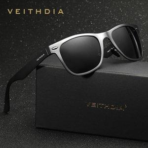 Erkek Güneş Gözlüğü Veithdia, Klasik Polarize Cam Kare Gözlük 2019
