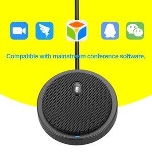 USB متعددة الاتجاهات المكثفات ميكروفونات مايكروفون لمؤتمر الأعمال اجتماع المحادثة الصوتية فيديو بث مباشر صوت البيك اب