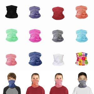 Kids Face Mask Children Protective Mask Outdoor Cycling Magic Scarf Headband Bandanas Turban Fitness Supplies Riding Face Masks CYZ2654