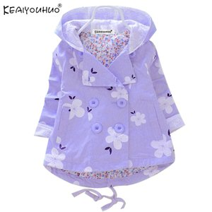 KEAIYOUHUO 2020 New Spring Coats Girls Jackets For Kids Outerwear Baby Girls Coat Long Sleeve Children's Jackets Hooded Clothing