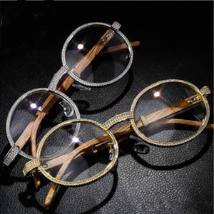Designer de luxo óculos de sol para fora congelado Diamante Óculos Hip Hop Jóias Encantos Homens Mulheres Rapper Moda Festa Acessórios Vintage Presente de Natal
