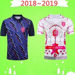 2018 2019 Paris RUGBY JERSEY HOME maillot national de rugby équipe 18 19 Cour hommes Rugby Accueil souvenir de jeu Loin Top qualité T-shirt