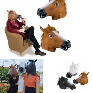 Cosplay Halloween Tête de cheval Masque animaux Costume Party Prop Jouets roman plein Visage Tête Masque KKA8024