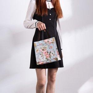 Mabula Мода Мультфильм Роскошной сумка водонепроницаемого ПВХ многоразового Лондон Стиль плечо сумка Экология цветок сумка шаблон