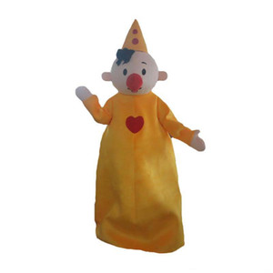 2019 Professional made Yellow Hat Boy Mascot Costume bumba clown mascot costumes for Halloween Birthday party