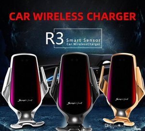 R3 10Вт Qi быстрого беспроводное зарядное устройство для зарядки Автоматического Зажимного Smart Sensor QI Индукционного Автомобильного телефон держатель стойки для IPhone Samsung M YJJ9 #