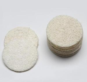 Roud natural de lufa cara del cojín de maquillaje Quitar Exfoliante y la piel muerta Ducha lufa GD596